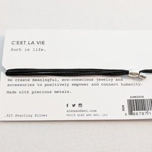 """Alex and Ani Jewelry - Alex and Ani Silver Kindred Cord """"C'est la Vie"""""""